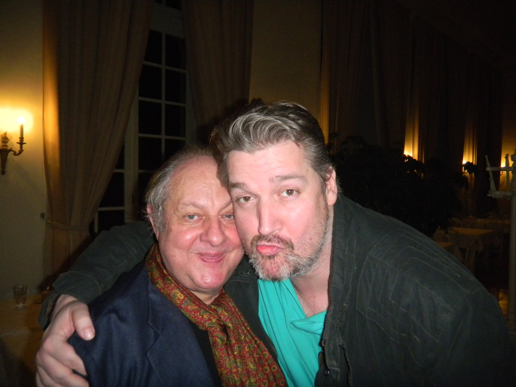 Vincent Klink und Michael Lacher hatten noch sichtlich Spaß beim anschließenden Treffen.