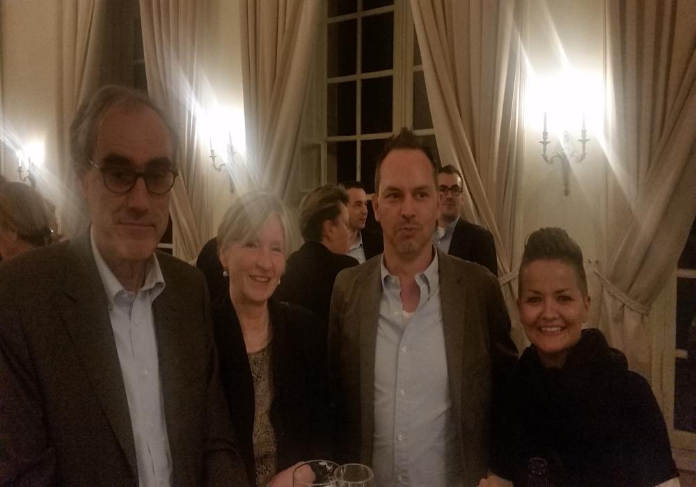 Die Schwetzinger Delegation an diesem Abend: SSG-Geschäftsführer Andreas Falz und die Leiterin der Schlossverwaltung Sandra Moritz mit Partnern.